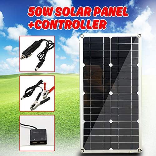 Zhang 50W 12V Solar Panel Dual USB Output-Solarzellen Poly Solar Panel 10A Controller Für Auto Yacht Batterie-Boot-Ladegerät