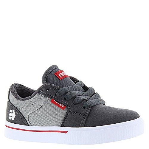Etnies Unisex-Kinder Kids Barge LS Skateboardschuhe, Dark Grey/Grey/Red dark grey/grey/red