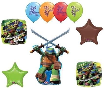 Amazon.com: LoonBalloon TEENAGE Mutant NINJA TURTLES 9 Pc ...
