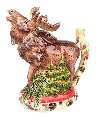 - Blue Sky Ceramic Woodland Moose Teapot