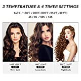 Automatic Curling Iron, Xpreen Cordless Hair Curler - Rechargeable Auto Curler with 3 Temperature & 4 Timer Settings, Unbound Cordless Auto Curler Portable Rotating Curling Wand for Hair Styling
