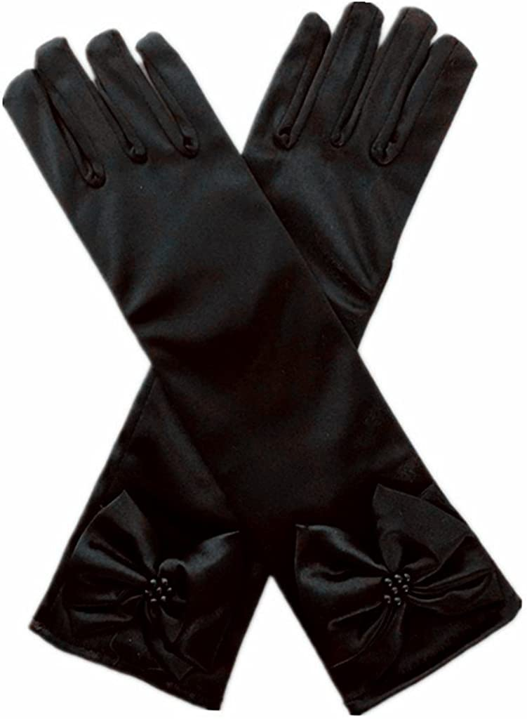 kids Special Occasion Gloves Amazon.com: DreamHigh Kids Stretch Satin Long Finger Gloves for Flower Girl  Children Party Black: Clothing