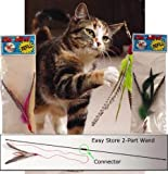 Da Bird Pull Apart Value Pack (1 Pull Apart Da Bird Pole Cat Toy & 2 Extra Guinea Feather Refills)