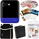 Polaroid POP Instant Camera (Blue) Gift Bundle + ZINK Paper (20 Sheets) + Pouch + 100 Sticker Border Frames + Hanging Frames + Album