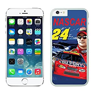 NEW DIY Unique Designed Case For iphone 6 plus Nascar Jeff Gordon iphone 6 plus White 5.5 TPU inch Phone Case 308