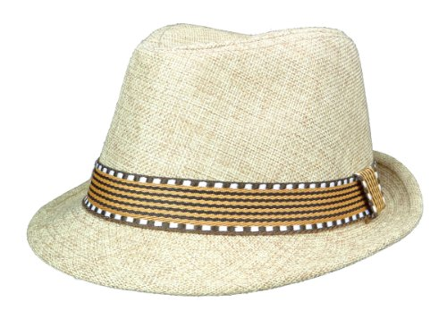 Subtle Addition Kids Fedora/Trilby Hats (Brown and Brown) by Subtle Addition