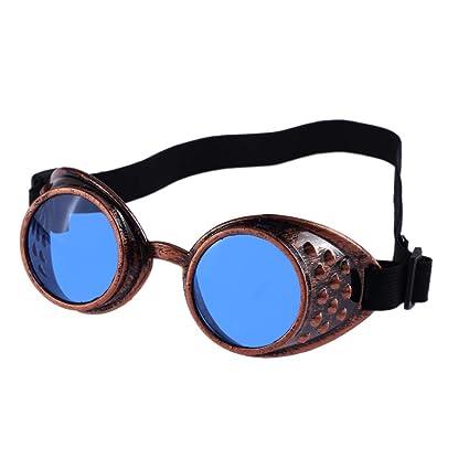 Malloom®Estilo Vintage Steampunk Gafas de protección Soldadura Gafas de Punk para Cosplay Fresco,