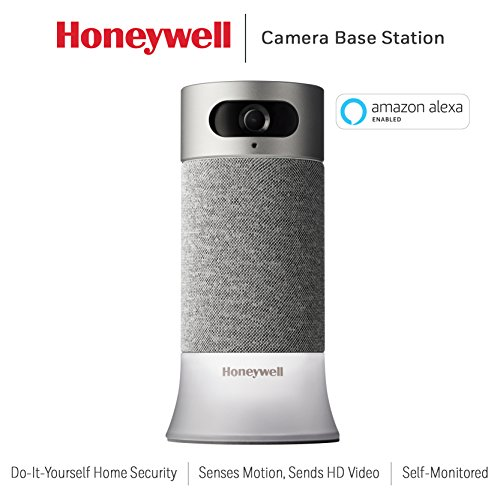 Honeywell RCHS5200WF1004/W Smart Home Security Camera Base Station with Alexa Built in in, Gray