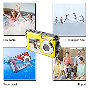 Dual Screen Waterproof Underwater Sports Action HD Mini Digital Video Recorder Camera,24MP 1080P Point and Shoot Digital Camcorder Camera from Suntak