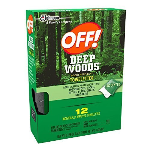 Off Deep Woods Insect Repellent Wipes 12 Towelettes - 2 Pack (Towelettes Wood)