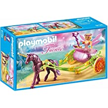 PLAYMOBIL Unicorn-Drawn Fairy Carriage Playset, Multicolor