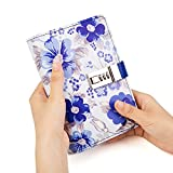 Lock Journal Binder Diary Notebook a6 Refillable 6 Ring Locking Diary Faux Leather Cute Flowers 160 Pages Personal Journal to Write in