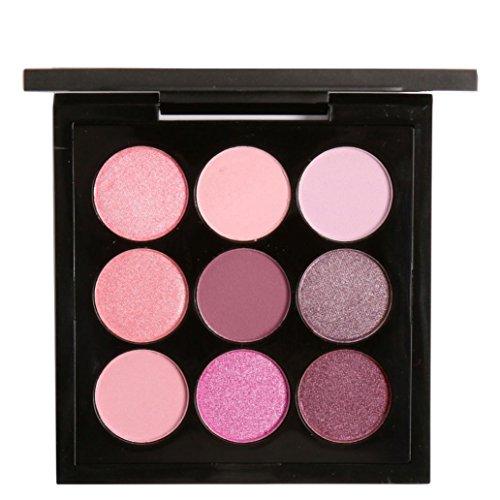 Price comparison product image Matte Eyeshadow , Hunzed Women Retro 9 Colors Eyeshadow Smoky Matte Eye Shadow Combination Eyeshadow Cosmetic Kit Charming (D)