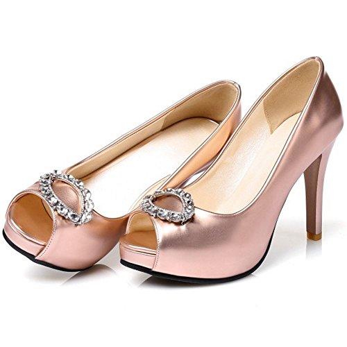 Champagne A Talon TAOFFEN sandales Toe Enfiler Femme Peep Elegant Haut Mariage Mince PqqwTB