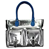 6 Pack Fitness Expert Renee Tote Meal Management Chrome Blue
