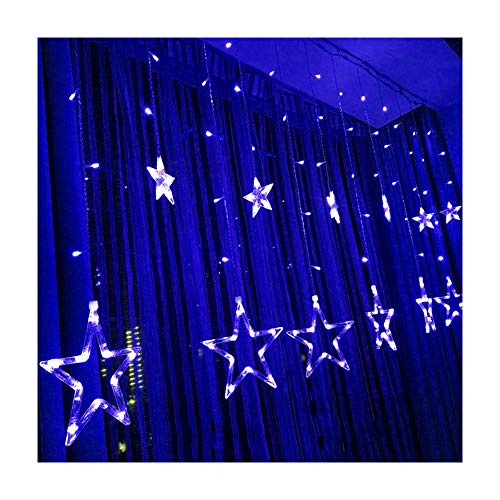 Novelty Kids Lighting - Zology LED Star Curtain String Light, 138 LED Fairy Hanging Strip Lamp Window Christmas Light for Bedroom Kids Room Wedding Party Hallowen Birthday Tree Supplies