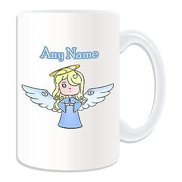 De regalo con mensaje personalizado - taza tamaño grande Angel (molde para hacer una diseño