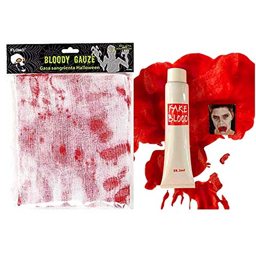 nygala corp Halloween Gauze Bloody Plus Fake Blood