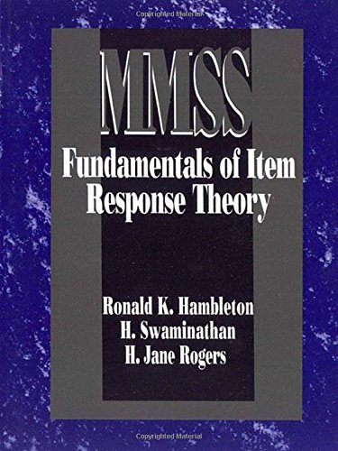 Fundamentals of Item Response Theory (Measurement Methods for the Social Science)