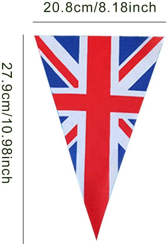 British Banner String Flag For National Royal Party Decoration Happt Union Jack Bunting Flags 8 Meters 25 Flags