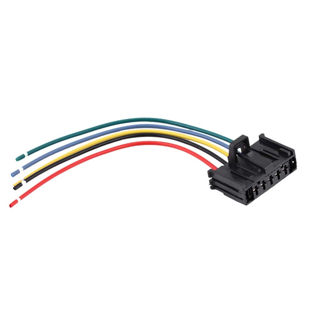 Blower Motor Resistor-Heater Motor Blower Fan Resistor with Wiring Repair Plug Harness Compatible with Fiat Grande Punto Qubo