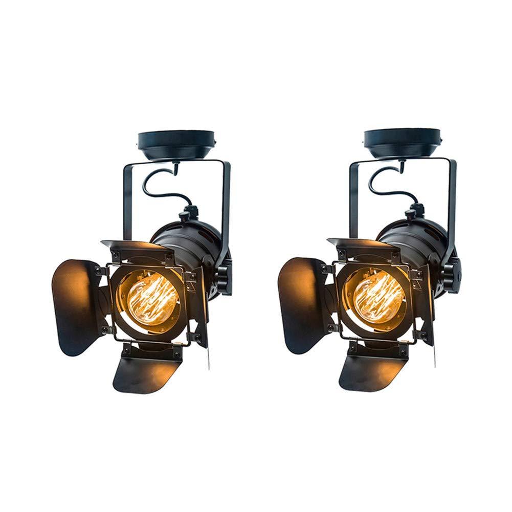 Vintage Mini Wandleuchten Basis E27 Industrielicht Retro Wandlampe Einstellbar 4 Blatt Für Kaffee Bar Lichter Leuchte,2Pcs,SmallGröße