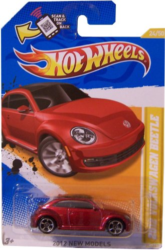 2012 VW Volkswagen BEETLE Hot Wheels 2012 New Models Series #24/50 Dark Red 1:64 Scale Collectible Die Cast Car