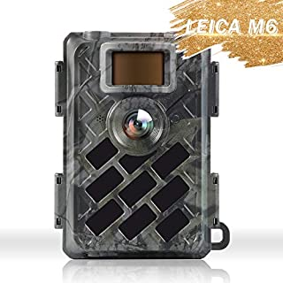 WingHome Trail Camera 630M, 16MP 1080P Game Camera with Leica M6 Solution & Sony Sensor, 0.4s Trigger Time Outdoor Wildlife Camera Motion Activated Crystal Clear Night Vision