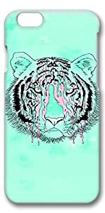 iPhone 6 Case, Custom Design Protective Covers for iPhone 6(4.7 inch) PC 3D Case - Fluorescence Green Tiger