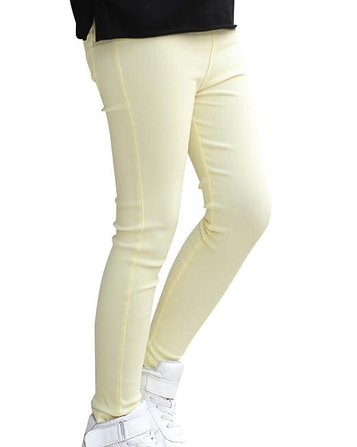 7967c2dd74a9a Niña Leggings de Color Sólido Elástico Pantalones de Lápiz Jeggings Leggins   Amazon.es  Ropa y accesorios