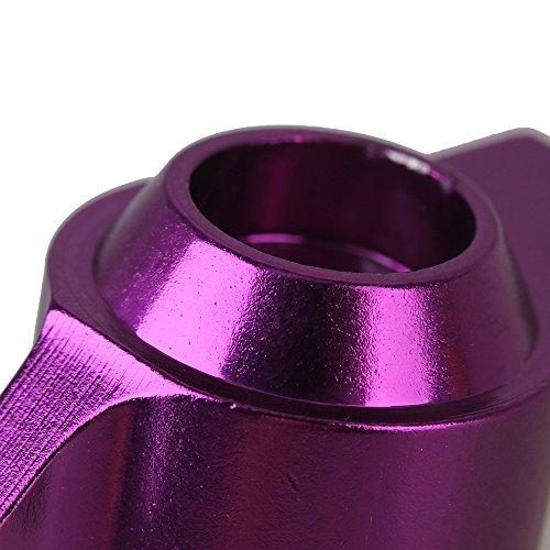 2PCS Aluminum Rear Upright (L/R) for HSP RC1:10 Car Purple
