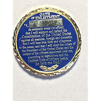 Challenge Coin Company, LLC US Navy Oath of Enlistment: Toys & Games