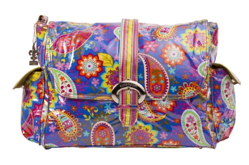 Kalencom Laminated Buckle Bag, Cobalt Paisley ()