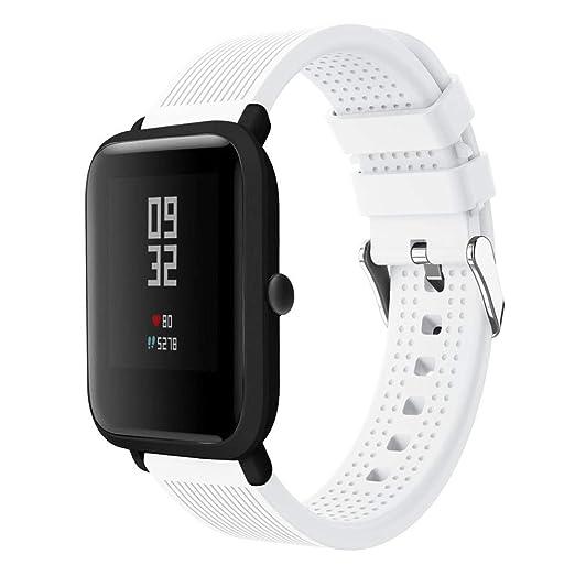 Correas de Reloj Correa de Pulsera para Huami Amazfit Bip Watch Deporte Suave Silicone Moda Repuesto Holatee: Amazon.es: Relojes