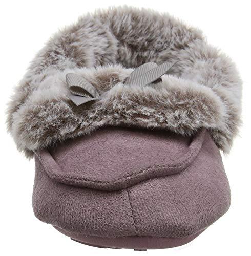 Totes Slippers Montants mauve Chaussons Fur Mocc Mau Ladies Suedette Femme Violet 4qxr4wRP