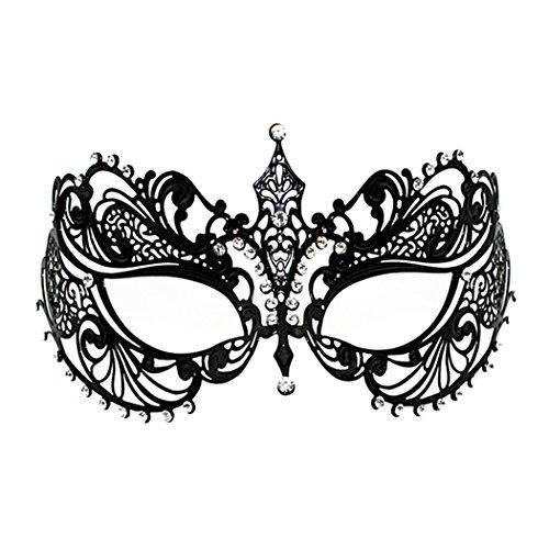 Crown Laser Cut Metal Women's Masquerade Mask Mardi Gras Mask ()