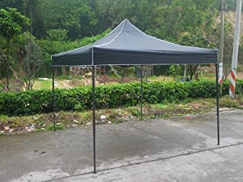 American Phoenix Canopy Tent 10x10 foot Black Party Tent Gazebo Canopy Commercial Fair Shelter Car Shelter & Amazon.com: American Phoenix Canopy Tent 10x10 foot Black Party ...