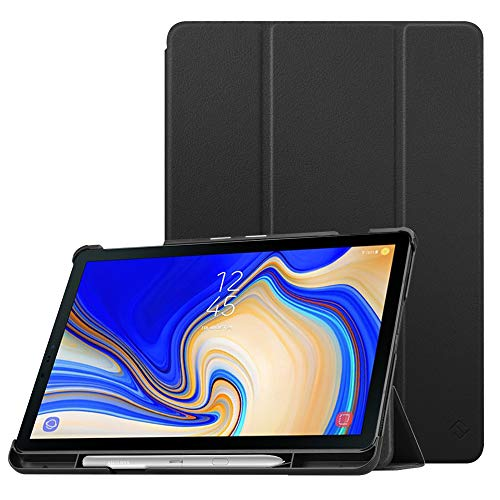 Fintie Slim Case for Samsung Galaxy Tab S4 10.5 2018 with S Pen Holder, Ultra Thin Tri-Fold Stand Cover with Auto Sleep/Wake for Samsung Tab S4 10.5 Inch Tablet SM-T830/T835/T837 - Black