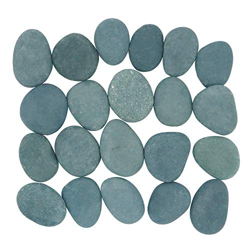 """Craft Rocks, 21 Extremely Smooth Stones for Rock Painting, Kindness Stones, Arts and Crafts, Decoration. 2""""-3.5"""" Inches Each (About 6 Pounds) Hand Picked for Painting Rocks"""