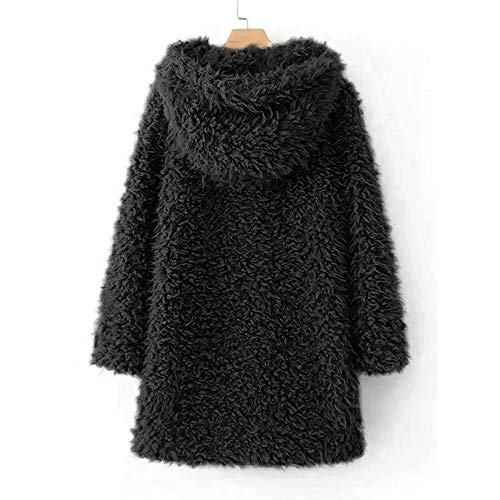 Parka Piumino Inverno Giacca Black Outwear Donna Pelliccia Cappotto Jacket Artificiale Morwind In Caldo Soprabito Fashion Casual Outercoat RwA7nq