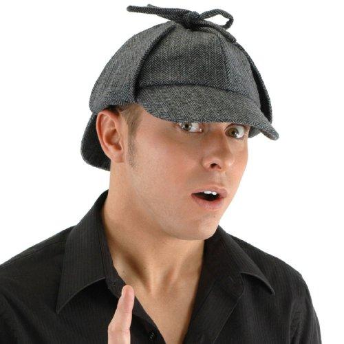 Sherlock Holmes Costume Deerstalker Hat For Adults (Sherlock Hat)