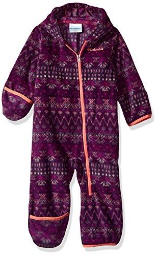 Columbia Baby Boys Snowtop Ii Bunting  Deep Blush Nordic Stripe  12 18 Months