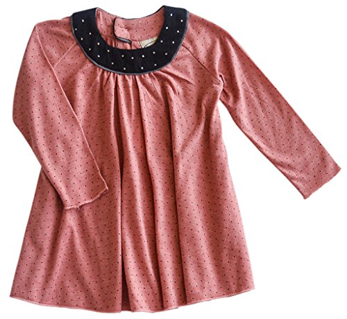 Baby Girls Pink Long Sleeved Dress w/ Black - Long Sleeved Dresses For Baby