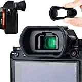Photo : Soft Silicon Camera Viewfinder Eyecup Eyepiece Eyeshade for Sony A7RIV A7 A7II A7III A7R A7RII A7RIII A7S A7SII A9 A9II A58 A99II Eye Cup Protector Replaces Sony FDA-EP18 FDA-EP16 FDA-EP15