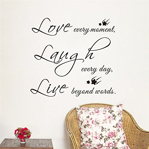 trfhjh Quotes Wall Sticker Home Art Live Laugh Love Quotes Wall Stickers for Living Room Decor Inspirational Home Decorations Bedroom PVC Print Letters Mural DecalsFor Bedroom Living Room Kids Room for $<!--$21.95-->