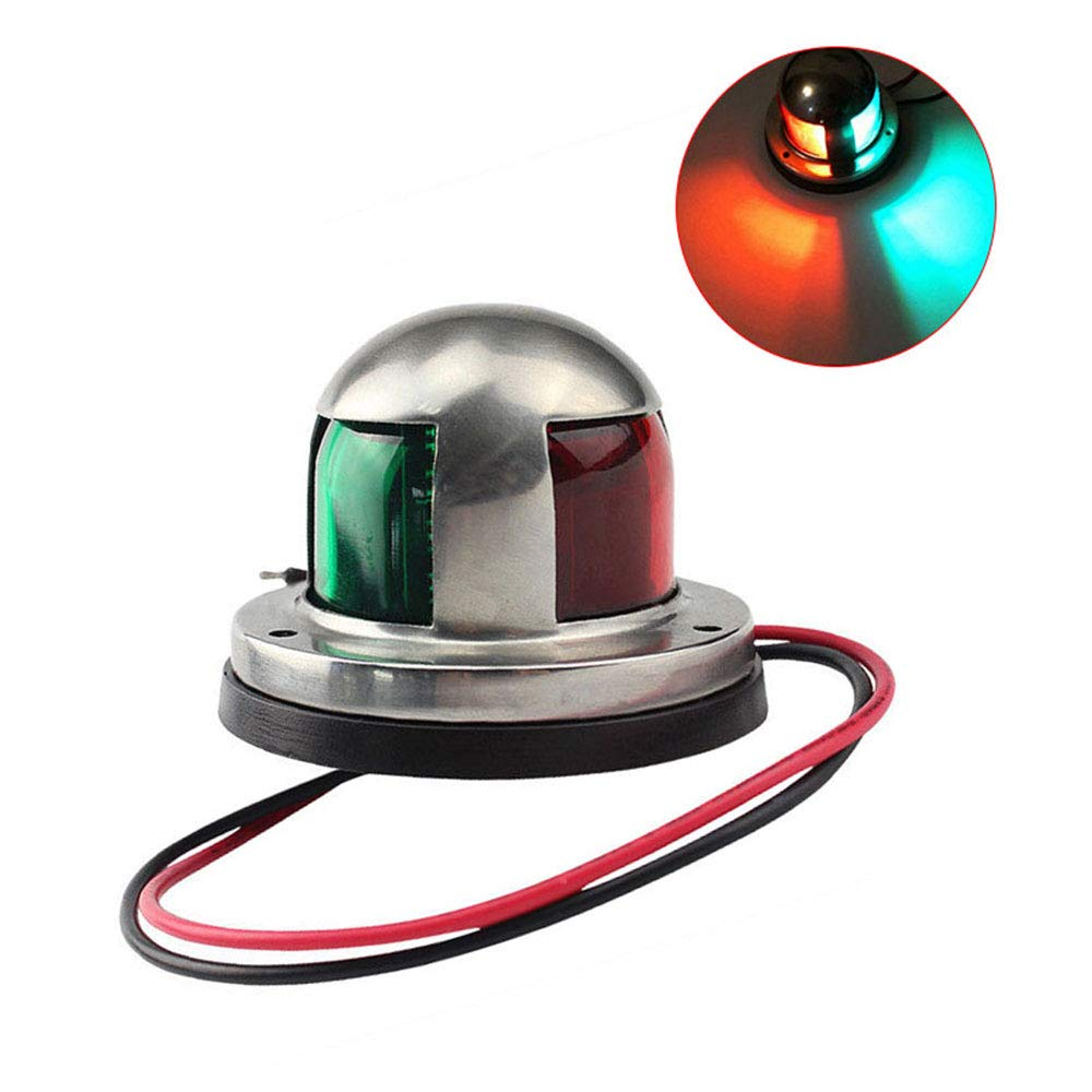 Funceter 12V Boat Marine LED Navigation Lights Marine Navigation Lamp Marine Sailing Signal Lights for Bow Side,Port, Starboard,Pontoons, Yachts, Skeeter,Fishing Boats, Speed Boats And Any Other Boats
