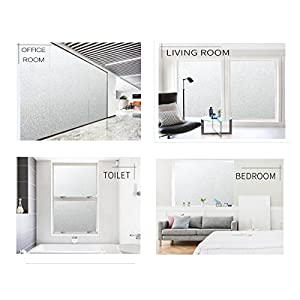 Bloss Privacy Sliding Door Panels/Decals Static Cling Window Film Bathroom Glass Window Film Privacy Protection, 17.7″-by-78.7″ 1 Roll