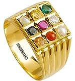 S KUMAR GEMS & Jewels Certified Natural Navratna (9 Gemstone) Panchdhatu Ring