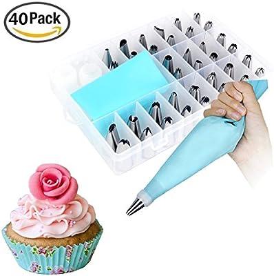 Kit de decoración de tartas, lifesport 40pcs pastelera repostería ...