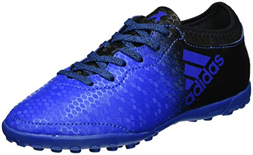 adidas X Tango 16.3 TF, Botas de Fútbol Unisex Niños, Azul (Blue/Core Black/Shock Pink), 38 2/3 EU